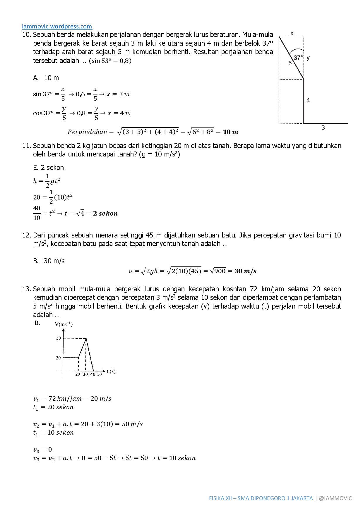 Pembahasan Soal Uas Fisika Kelas Xii Semester 1 2014 Iammovic