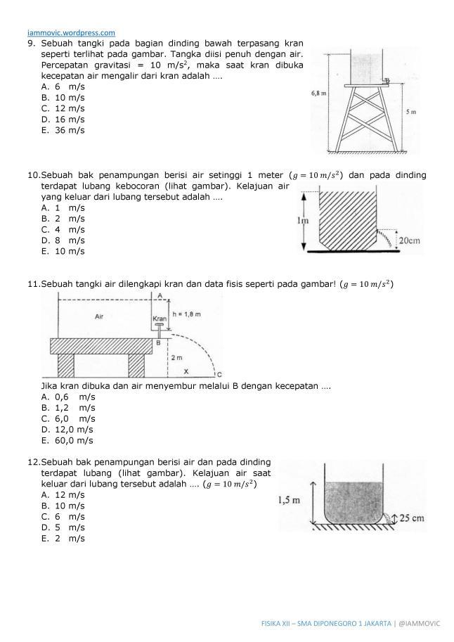 Soal Un Fisika Sma 2013 Fluida Iammovic