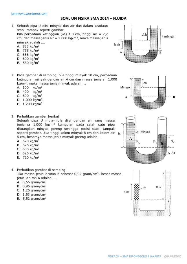 Soal Un Fisika Sma 2014 Fluida Iammovic