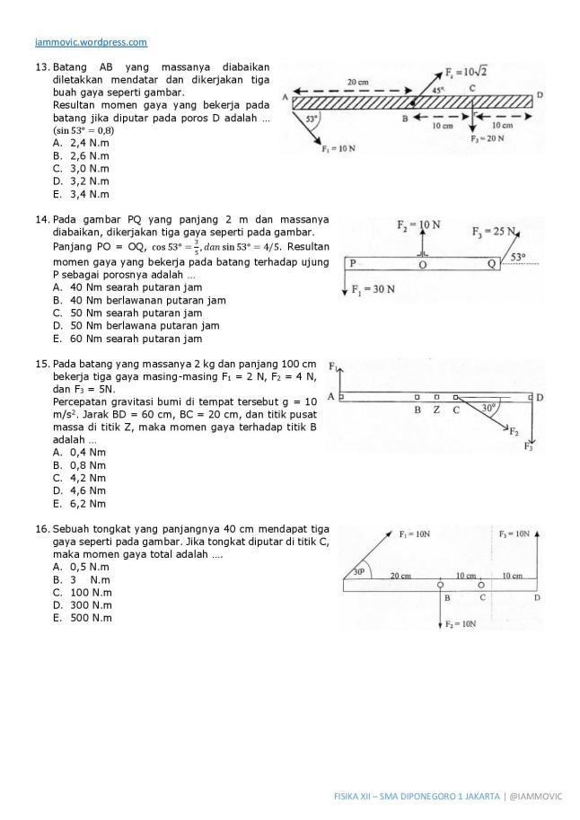 Contoh Soal Un Fisika Sma Dan Pembahasan Loadingwebdesign