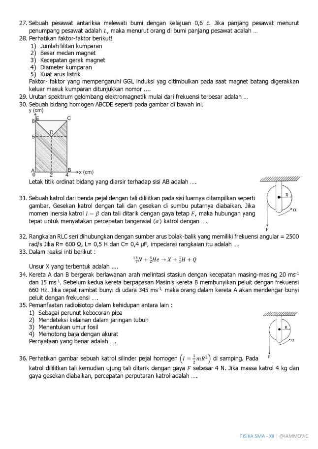 Latihan Soal Fisika Sesuai Skl Un Iammovic
