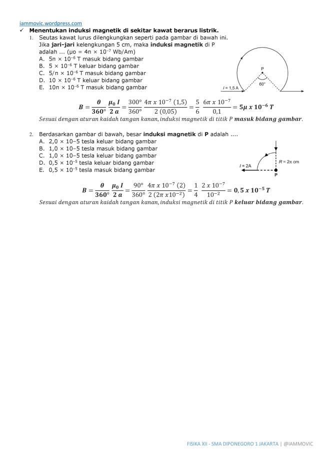Pembahasan Soal Fisika Induksi Magnetik Iammovic